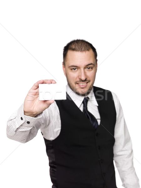 Man showing a sign Stock photo © gemenacom