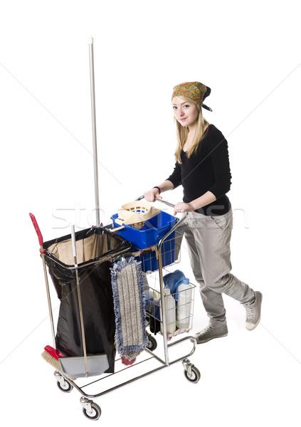 Cleaning lady Stock photo © gemenacom