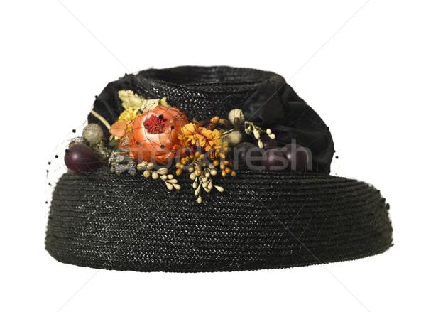 Female hat with flowers Stock photo © gemenacom