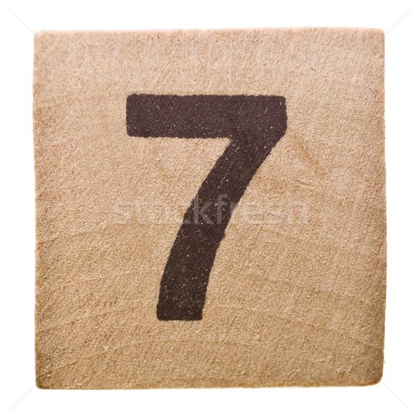 Número sete isolado branco brinquedo aprendizagem Foto stock © gemenacom
