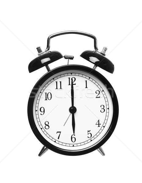 Alarm clock shows six o`clock Stock photo © gemenacom