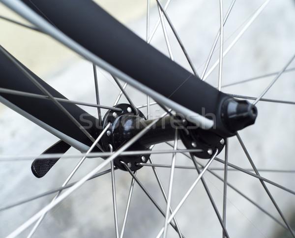 Stock fotó: Bicikli · kerék · közelkép · sport · fekete · hátterek