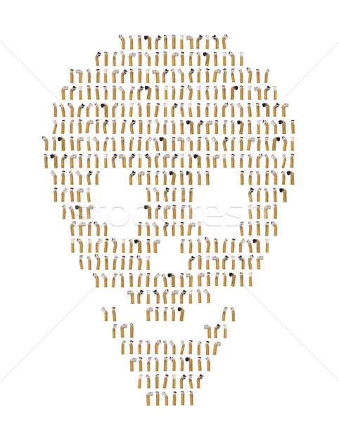 Collage sigaret vorm schedel Stockfoto © gemenacom