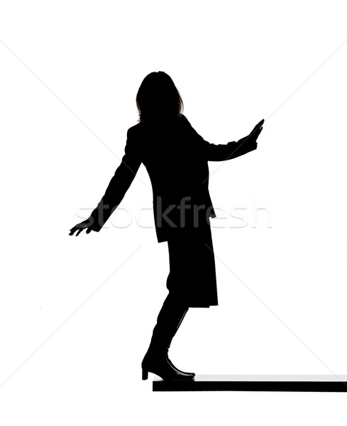 Silhouette of a woman on a board Stock photo © gemenacom
