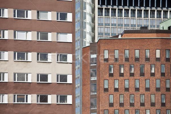 Edifícios fechar outro cidade janela linha do horizonte Foto stock © gemenacom
