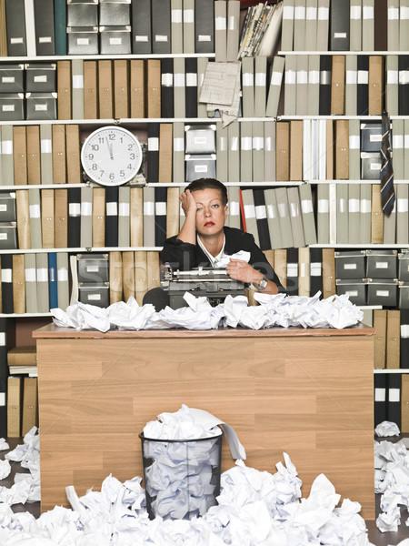 Stock photo: Tired Author