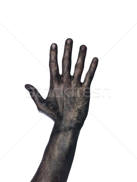 Very dirty hand towards white background Stock photo © gemenacom