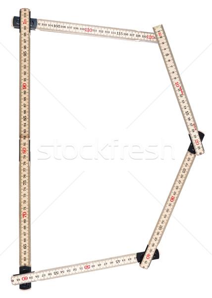 D betű fa stúdió szerszám vonalzó szimbólum Stock fotó © gemenacom