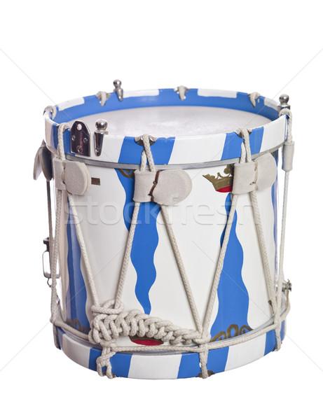 ヴィンテージ ドラム 孤立した 白 金属 ストックフォト © gemenacom