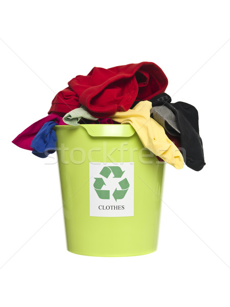 Recycling bin with clothes Stock photo © gemenacom