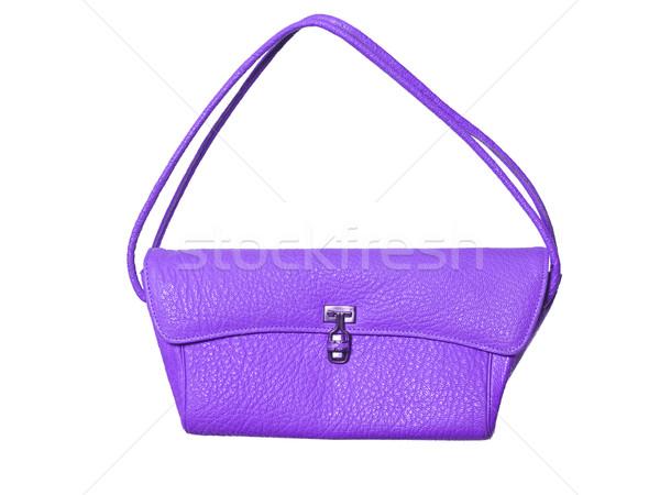 Purple кошелька изолированный белый моде сумку Сток-фото © gemenacom