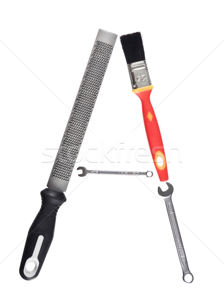 Letter 'A' made of tools Stock photo © gemenacom