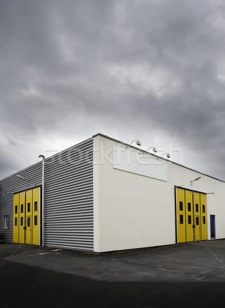 Magazzino porta fabbrica nube vuota Foto d'archivio © gemenacom