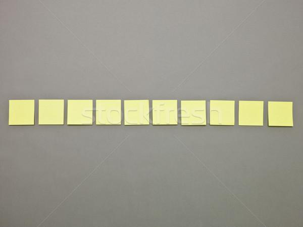 黄色 接着剤 ノート 通信 看板 ストックフォト © gemenacom
