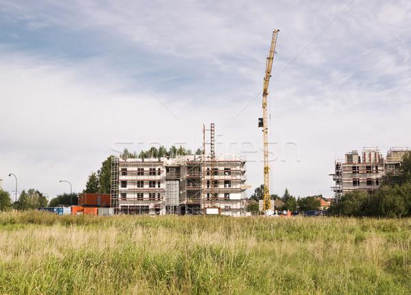 épület helyszín beton toronyház építkezés építkezés Stock fotó © gemenacom