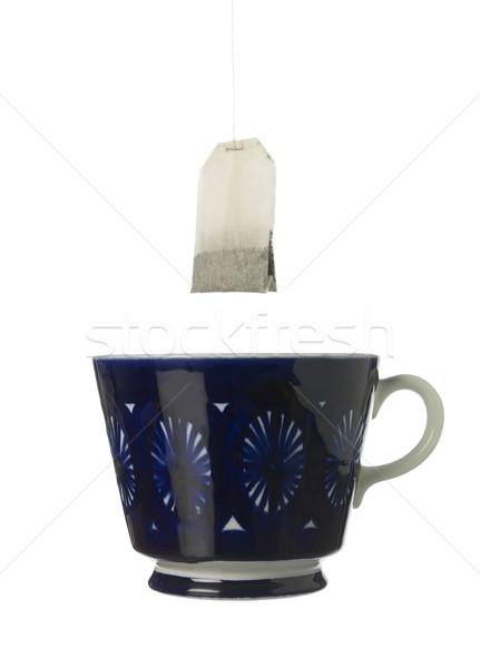 чайная чашка чай белый белом фоне натюрморт Сток-фото © gemenacom