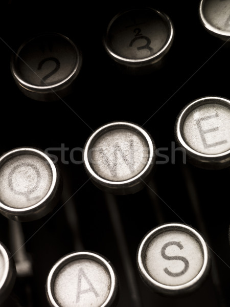 Vintage Typewriter Keys Stock photo © gemenacom