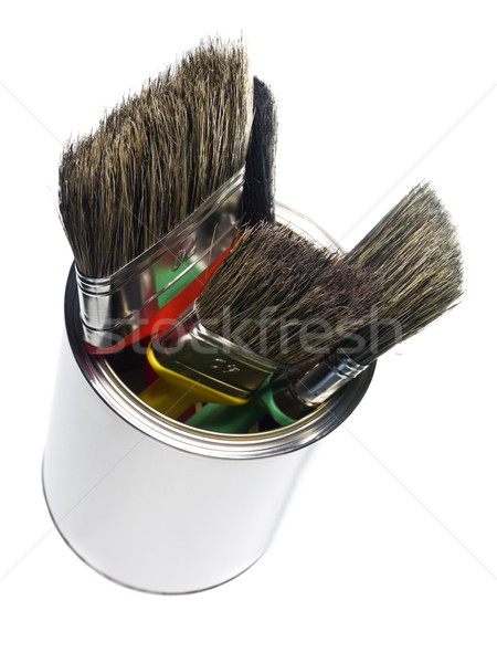 Paint can with brushes Stock photo © gemenacom