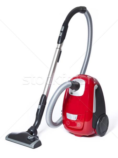Porszívó izolált fehér piros tükröződés takarító Stock fotó © gemenacom
