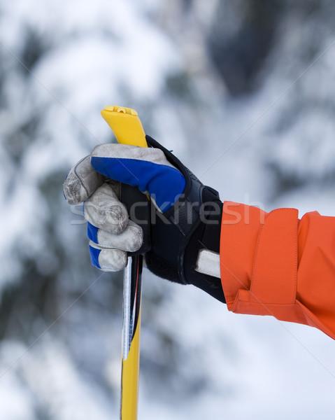 El Kayak kutup seçici odak spor insan Stok fotoğraf © gemenacom