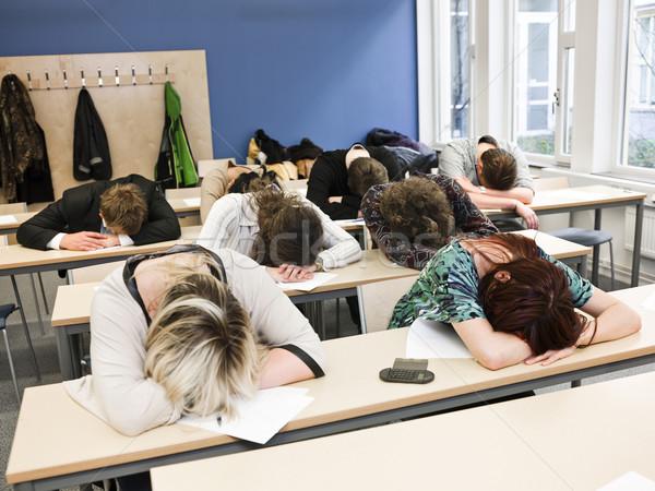 Noioso classe grande gruppo dormire studenti business Foto d'archivio © gemenacom