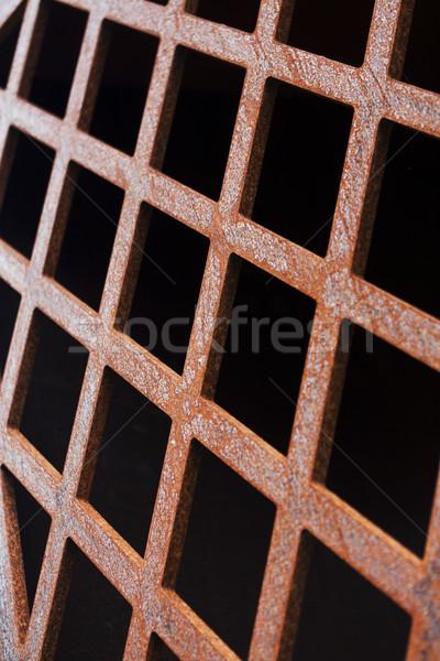 Foto d'archivio: Recinzione · pattern · design · rosso · acciaio