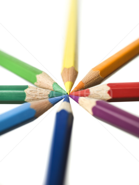 Formation of colourd pencils Stock photo © gemenacom