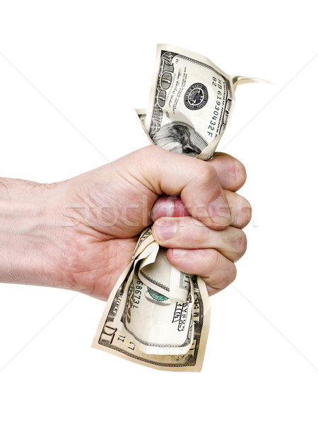 Main dollars dollar banque Photo stock © gemenacom