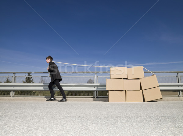 Man with Moving Boxes Stock photo © gemenacom