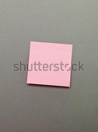 ピンク 接着剤 注記 グレー 紙 手紙 ストックフォト © gemenacom