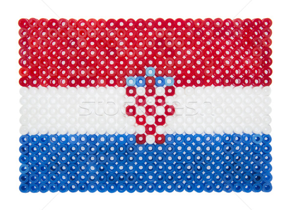 флаг пластиковых жемчуга знак синий игрушку Сток-фото © gemenacom