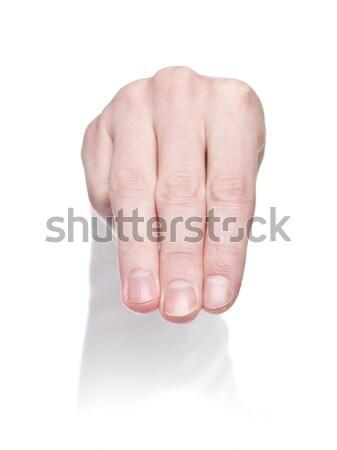 Letra m linguagem gestual isolado branco multidão assinar Foto stock © gemenacom