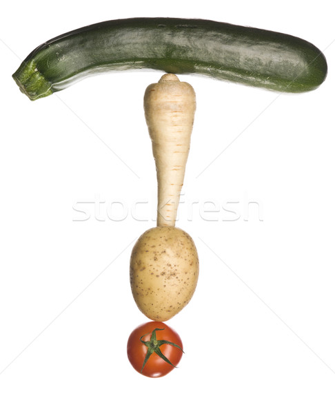 The letter 'T' made out of vegetables Stock photo © gemenacom