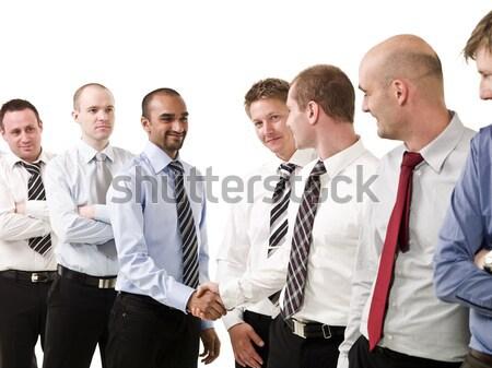 ビジネス男性 文書 グループ 赤 孤立した 白 ストックフォト © gemenacom