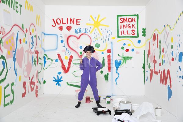 Painting a room Stock photo © gemenacom