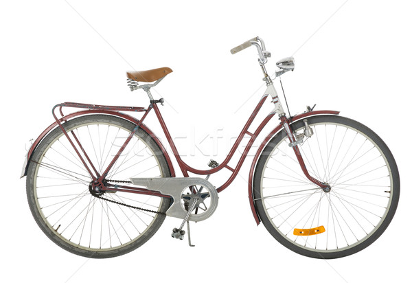 Red Old fashioned bicycle Stock photo © gemenacom