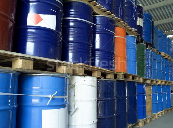 Olie drums industrie trommel horizontaal Stockfoto © gemenacom