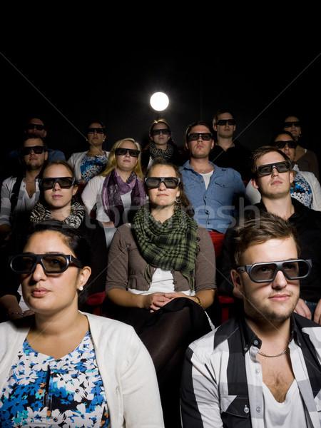 Zdjęcia stock: Ludzi · okulary · 3d · kina · film · teatr