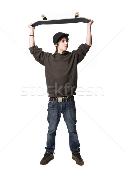 Boy with a skateboard Stock photo © gemenacom