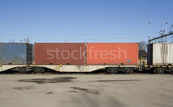 Cargo wagons Stock photo © gemenacom