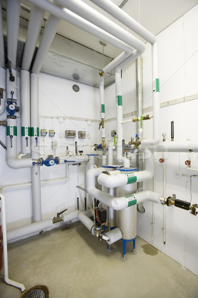 Gas interieur water metaal elektriciteit stoom Stockfoto © gemenacom