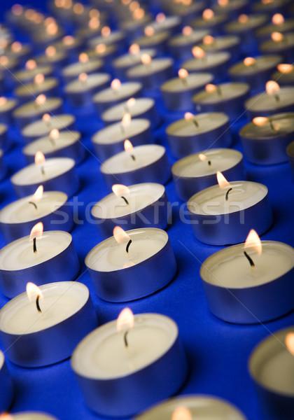 Gyertyák nagyobb csoport full frame gyertya makró fotózás Stock fotó © gemenacom