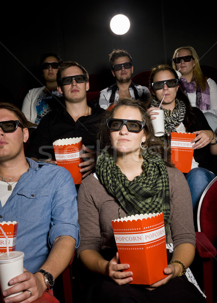 Spectators at cinema Stock photo © gemenacom