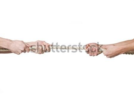 Músculo piel blanco cuerda juego fondo blanco Foto stock © gemenacom