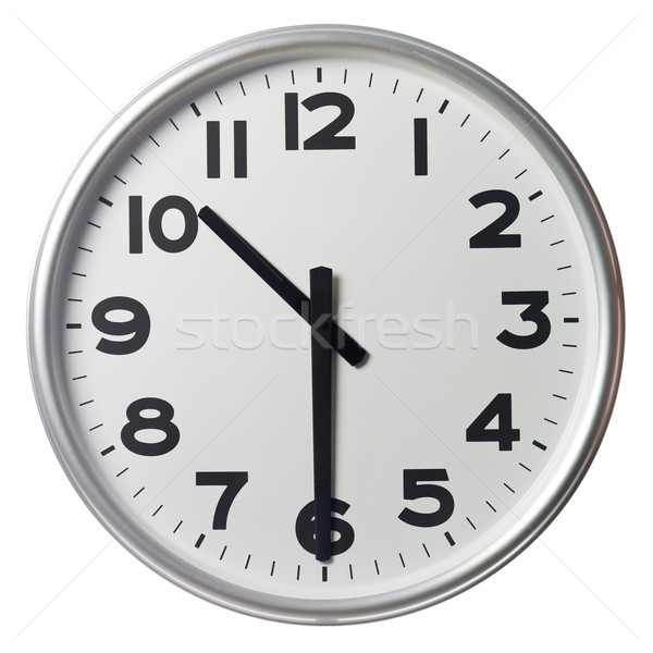 Mitad pasado diez reloj negro blanco Foto stock © gemenacom