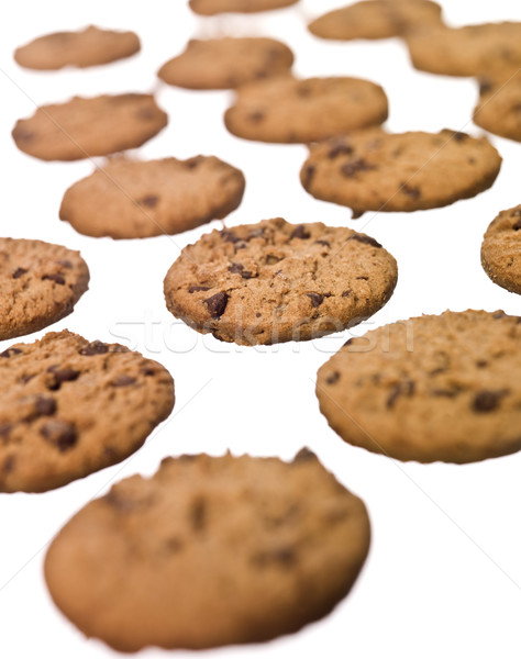 Múltiple cookies aislado blanco alimentos chocolate Foto stock © gemenacom