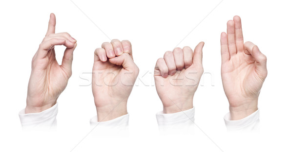 The word 'deaf' in sign language Stock photo © gemenacom