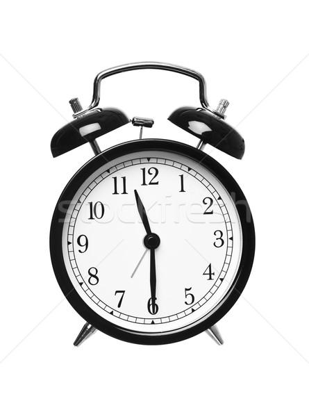 Yarım geçmiş on bir saat yalıtılmış beyaz Stok fotoğraf © gemenacom