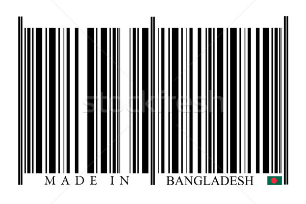 Banglades vonalkód fehér technológia fekete piac Stock fotó © gemenacom
