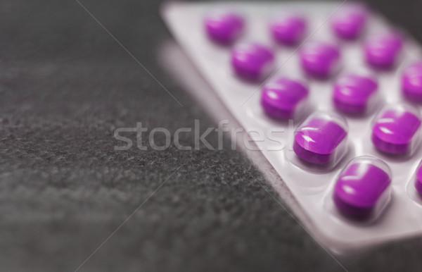 Blister pack of Pink medicine pills Close up Stock photo © gemenacom